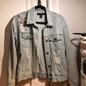 Ripped jean jacket from Forever 21.